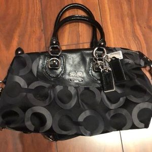 Black and gray Coach handbag - like new!